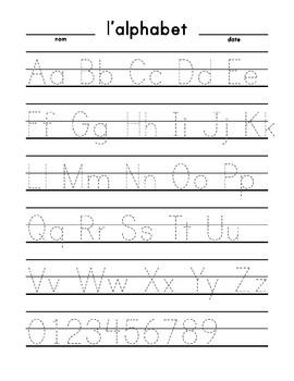 Alphabet Trace (large print dashed) Français