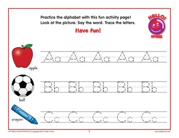 Alphabet Trace–Upper and Lowercase Letters