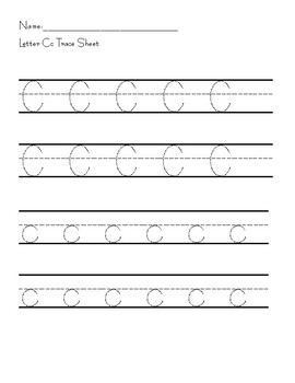 Alphabet Tracer Pages