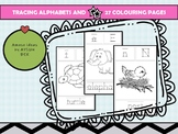 Alphabet Tracing A-Z with Animal Colouring Pages