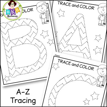 Alphabet Tracing ● A-Z Picture Tracing ● Pre-Writing ● NO Prep