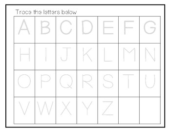 Alphabet Tracing Activity Pack
