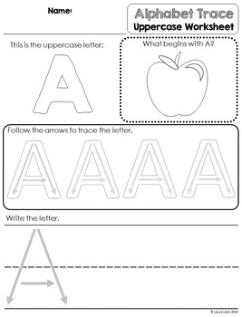 Alphabet Tracing Cards and Worksheets BUNDLE