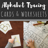 Alphabet Practice: Letter Formation Tracing Cards and Worksheets BUNDLE