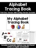 Alphabet Tracing Book with Parent Letters, Linking Chart &