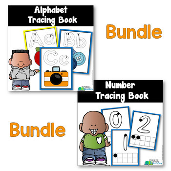 Alphabet & Number Tracing Books with Charts {Bundled Set of Pre-Readers}