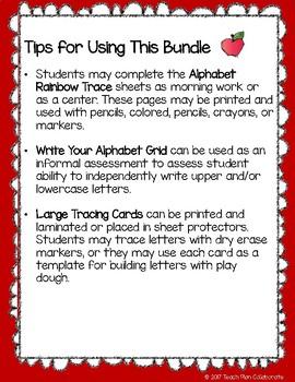 Alphabet Tracing Bundle