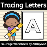 Alphabet Tracing - Capital Letters - Full Page - by AllDayABA