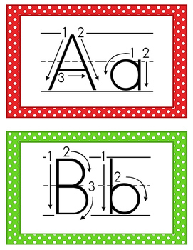 Alphabet Cards (Correct Letter Formation)