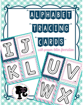 Alphabet Tracing Cards Freebie
