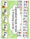 Alphabet Tracing Cards & Matching Alphabet Desk Strips