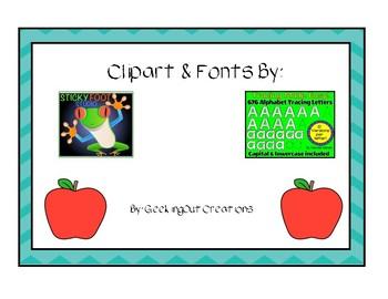 Alphabet Tracing Cards/Mats
