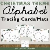Alphabet Tracing Cards/Mats - Christmas Theme