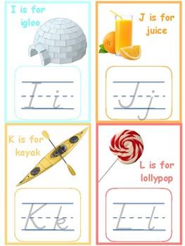 Alphabet Tracing Cards -- Montessori Initial Sounds--Fine Motor Work