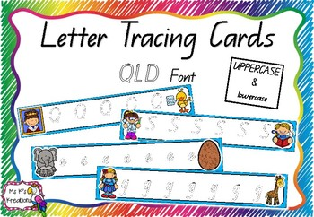 Alphabet Tracing Cards - QLD Bubble Font