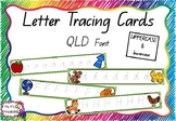 Alphabet Tracing Cards Queensland Font