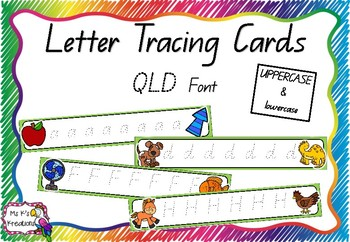 Alphabet Tracing Cards Queensland Font