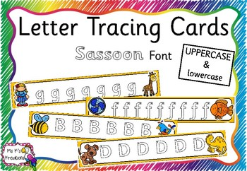 Alphabet Tracing Cards - Sassoon Font
