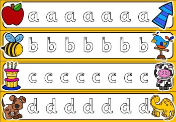 Alphabet Tracing Cards - Sassoon Font