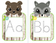 Alphabet Tracing Cards (Woodland Animal Theme)