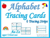 Alphabet Tracing Cards and Strips--Write and Wipe(Aa-Zz) Distance Learning