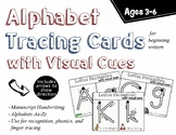 Alphabet Tracing Cards with Directional Arrows and Picture Words