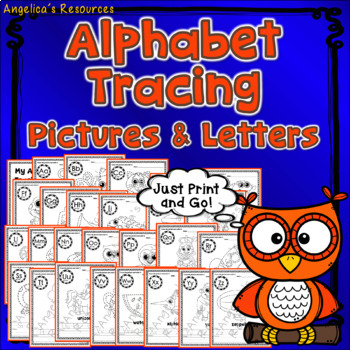 Alphabet Tracing: Fine Motor Activities & Handwriting Practice Just print & go!
