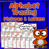 Alphabet Tracing: Fine Motor Skills - Handwriting Worksheets - Picture Tracing
