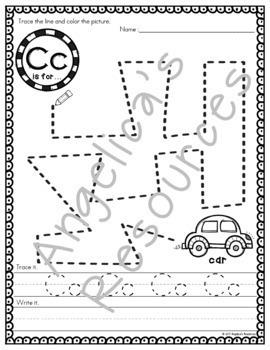 Alphabet Tracing: Fine Motor Activity Printables - Just print & go!