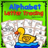Alphabet Tracing : Fine Motor Skills - Letter Tracing - Handwriting Worksheets