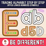 Alphabet Tracing Letters Clipart - Step By Step (Upper, Lo