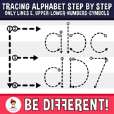 Alphabet Tracing Letters Step By Step Only Line Edition Up