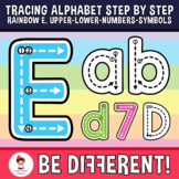 Alphabet Tracing Letters Clipart Formation Motor Skills Pe