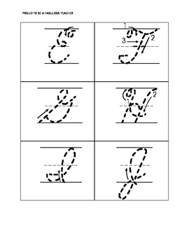 Alphabet Tracing Letters in Cursive