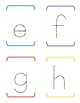 Alphabet Tracing - Lower Case only - SIMPLE - no cute graphics or distractions