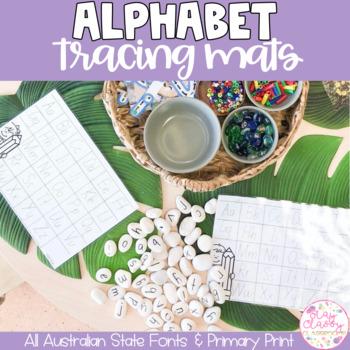 Alphabet Tracing Mats (Print and Australian Fonts)