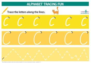 Alphabet Tracing Mats (Cursive Print)