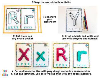 Alphabet Tracing Mats - Alphabet Playdough Mats   Alphabet letters for walls