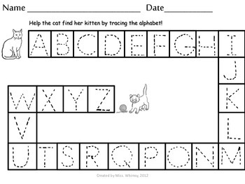 Alphabet Tracing Mazes: Upper & Lower Case