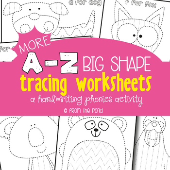 Alphabet Tracing Pages {A Pre-Writing & Phonics Activity}