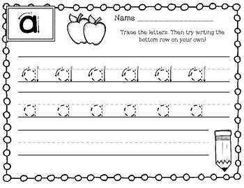 Alphabet Tracing Pages - Lowercase