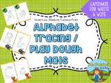 Alphabet Tracing/ Play Dough Mats {VIC FONT}