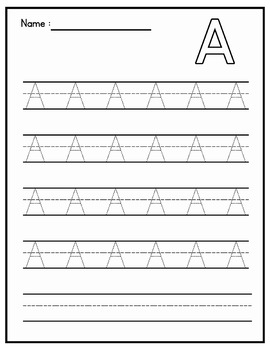 Alphabet Tracing Practice - Bundle