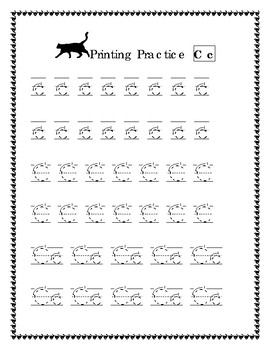 Alphabet Tracing Practice Pages