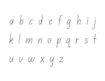 Alphabet Tracing Sheets