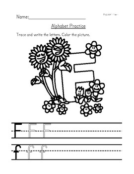 Alphabet Tracing Sheets From A-Z