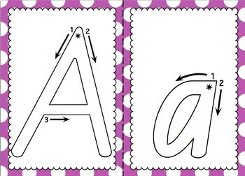 NSW Foundation Font Alphabet Tracing Sheets