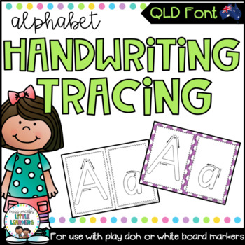 QLD Beginners Font Alphabet Tracing Sheets