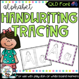 QLD Beginners Font Alphabet Tracing Sheets