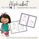 Victorian Modern Cursive Alphabet Tracing Sheets